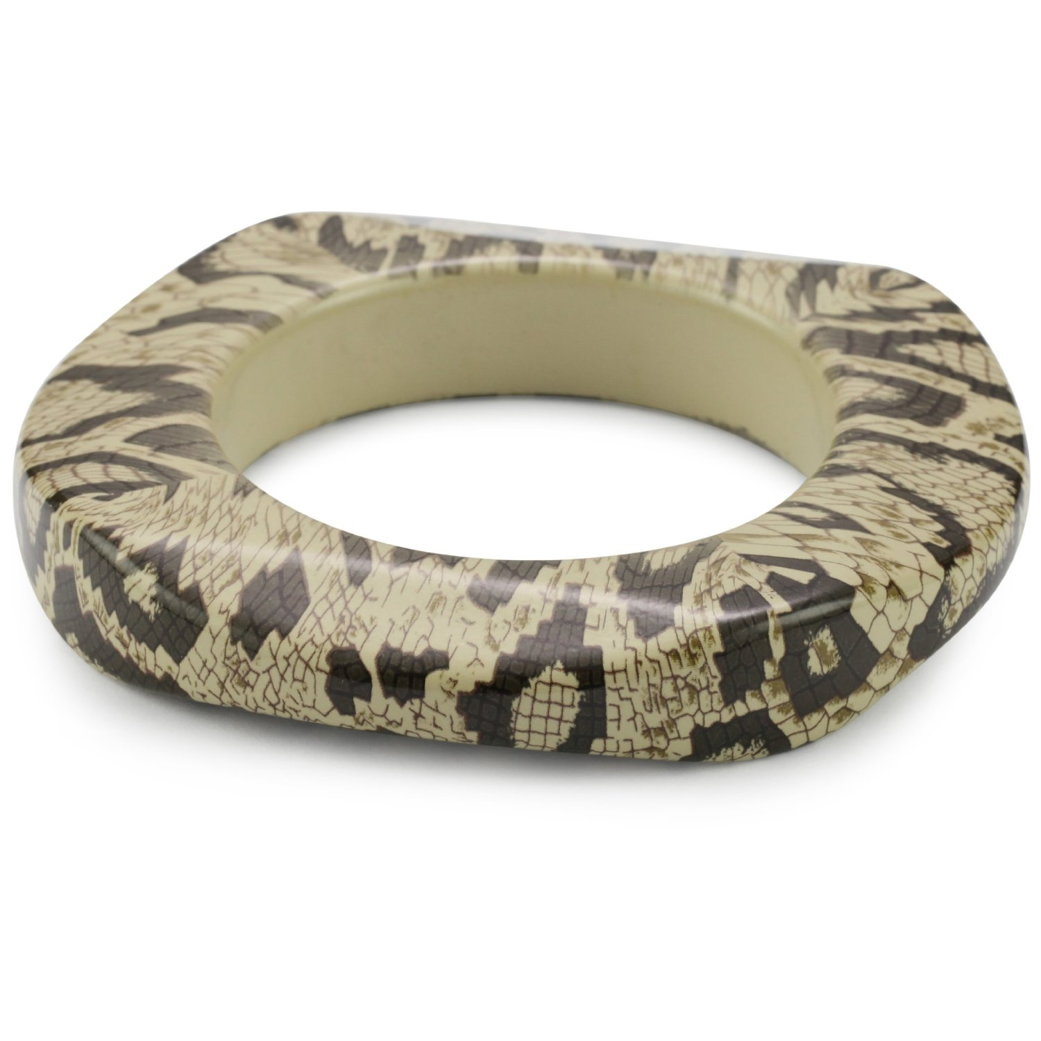 Kenneth Jay Lane Snake Print Bangle